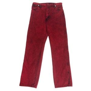 Wrangler Vintage Red Acid Wash Mom Jeans